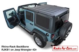 jeep wrangler 4 door rhino rack backbone and pioneer platforms edmonton alberta