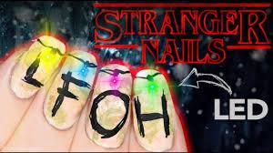 Christmas Light Nails by Stranger Things Christmas Lights Nail Art Youtube