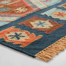 blue flatweave wool pradeep area rug world market