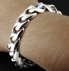 chain link bracelet sterling silver images Cuban curb chain link biker bracelet sterling silver 1 4 pound 8 9 JPG