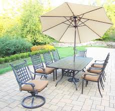 outdoor 6 foot patio umbrella round patio table set garden