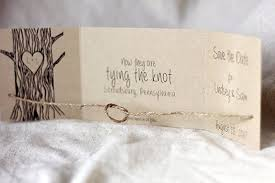 rustic save the dates rustic tying the knot save the date set of 25 rustic