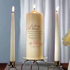memorial candle in loving memory personalized autumn leaf memorial pillar candle