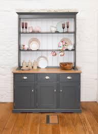 not an open back but gives the effect of one kitchen hutch