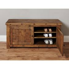 Hallway Shoe Cabinet by Heyford Rough Sawn Solid Oak Furniture Shoe Storage Cabinet