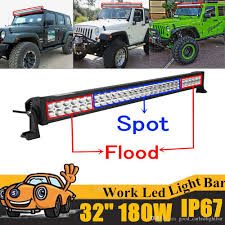 Led Flood Light Bars by 180w 32 Inch Led Work Light Bar Offroad Boat Car Tractor Truck 4x4