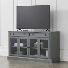 T V Stands With Cabinet Doors Tv Stands Media Consoles Cabinets Crate And Barrel