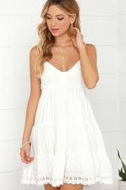 white summer dress black spagettic flower embroidered accent dress boho style