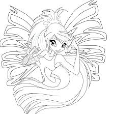 coloring book pages winx club club bloom harmonix coloring pages