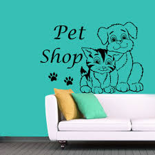 pet shop dog cat store vinyl wall sticker glass decal picture pet shop dog cat store vinyl wall sticker glass decal picture wallpaper mural on the wall paper home decor fresco in wall stickers from home garden on