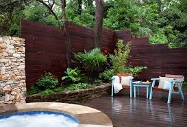 Backyard Privacy Fence Ideas Privacy Fence Ideas Patio Contemporary With Partition Wall Light