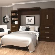 Wall Bed Set Boutique Wall Bed With 25 And 36 Storage Units In Brown