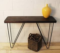Industrial Console Table Industrial Wood And Steel Console Table By Möa Design