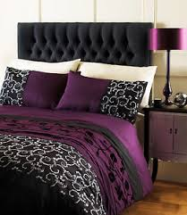 Black Comforter King Size Purple Plum Duvet Cover Floral Black Bed Quilt Cover King Size