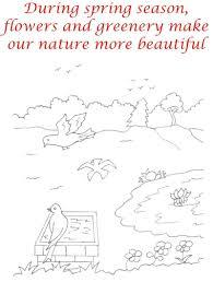 spring season coloring printable page1 for kids