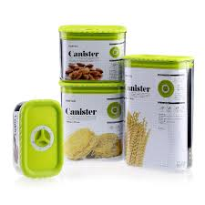 kitchen canisters green 4pcs kitchen canister set sealed plastic food storage container with