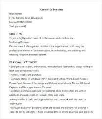 Resume Examples Waitress by Trendy Idea Cashier Resume Examples 7 Head Cv Resume Ideas