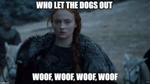 Who Let The Dogs Out Meme - sansa imgflip