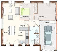 plan chambre plan maison 2 chambres plain pied gratuit