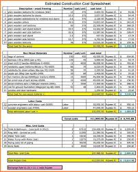 construction cost report template 10 construction cost spreadsheet template excel spreadsheets
