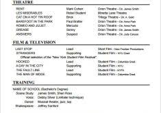 dazzling actors resume template 2 10 acting templates free samples
