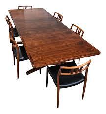 jl moller danish rosewood dining set chairish