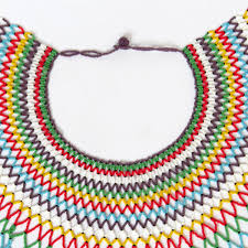 african wedding bead necklace images Traditional african zulu wedding necklace beaded oversized jpg