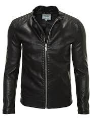 mens moto jacket only u0026 sons men u0027s biker jacket faux leather jacket james jacket