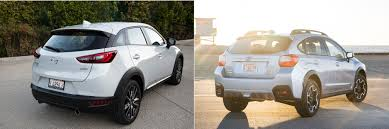 xc3 mazda head to head 2016 mazda cx 3 awd vs 2016 subaru crosstrek