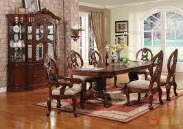 table cherry dining room sets wood windham formal set carved
