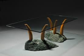 stone coffee tables base glass table excl thippo
