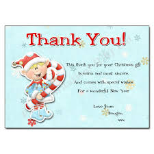 christmas thank you cards christmas thank you note