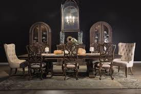 Hooker  Opulent Double Pedestal Traditional Dining Table - Hooker dining room sets