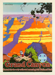 Arizona travel posters images Santa fe railroad grand canyon american travel poster vintage jpg