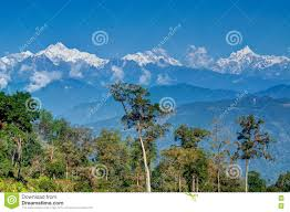 Mountain Backdrop Silerygaon Village With Himalayan Mountain In Backdrop Sikkim