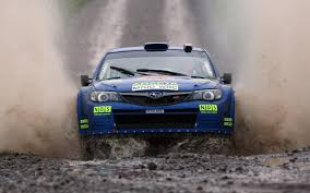 Subaru Impreza Wrc Rally Rally Water Spray Front Car Machine Light