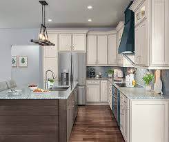 white kitchen cabinets with gray glaze at lowes icy avalanche with grey glaze