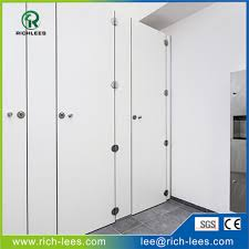 Solid Plastic Toilet Partitions Waterproof Toilet Cubicle Partition Board Waterproof Toilet