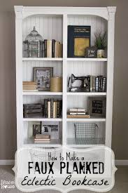 how to make a faux planked eclectic bookcase bless u0027er house