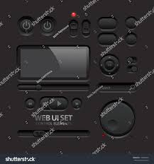 Two Dark Ui - dark web ui elements buttons switches stock vector 119890234