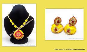 yaalz threaded yaalz traditional neckset u0026 matching jumka combo in