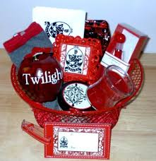 themed gift twilight saga edward cullen themed gift basket vire socks