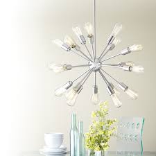 make a statement with a starburst chandelier this fixture is a