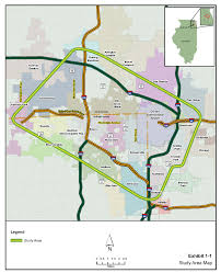 Illinois Interstate Map by Dupage County Il Official Website Edp Corridor Planning Elgin