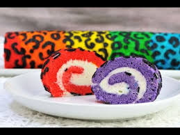 rainbow leopard cake roll youtube