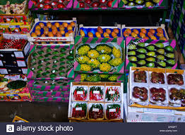 new covent garden market wholesale market displays of stock photo