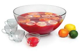 punch bowl sparkling spiced cranberry punch with cranberry ring toni