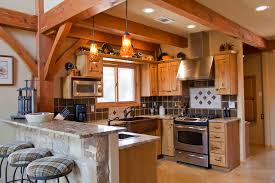 a frame kitchen ideas weekend retreat timber frame home traditional kitchen