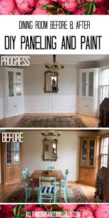 the dining room before and after diy paneling u0026 paint all