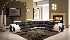 Leather Sofas Montreal Latest Trend Of Curved Sectional Sofa With Recliner 46 In